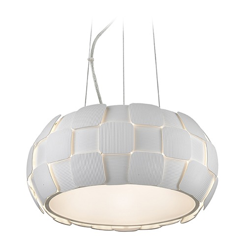 Access Lighting Access Lighting Layers White Pendant Light 50906-WH/WH