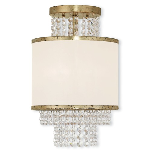 Livex Lighting Livex Lighting Prescott Hand Applied Winter Gold Semi-Flushmount Light 50792-28
