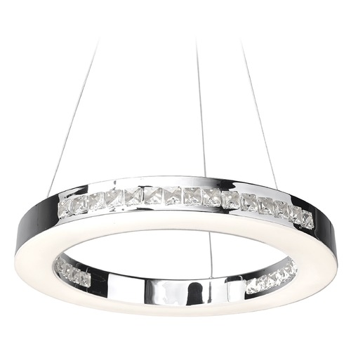 Access Lighting Access Lighting Affluence Chrome Pendant Light 62454LEDD-CH/CCL