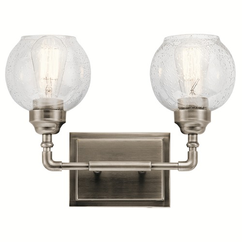 Kichler Lighting Seeded Glass Bathroom Light Pewter Kichler Lighting 45591AP