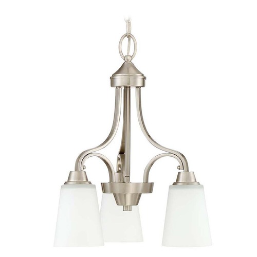 Craftmade Lighting Craftmade Lighting Grace Brushed Polished Nickel Mini-Chandelier 41913-BNK