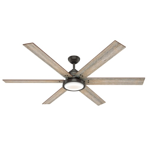 Hunter Fan Company Hunter 70-Inch Noble Bronze LED Ceiling Fan with Light and Wall Control 59397