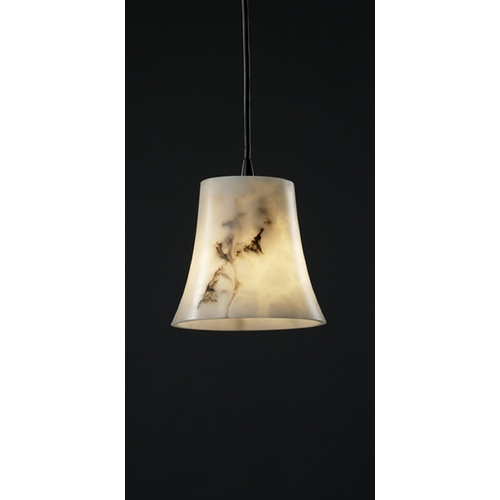 Justice Design Group Justice Design Group Lumenaria Collection Mini-Pendant Light FAL-8815-20-MBLK