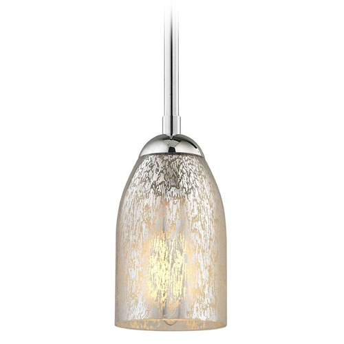 Design Classics Lighting Design Classics Gala Fuse Chrome Mini-Pendant Light with Bowl / Dome Shade 581-26 GL1039D