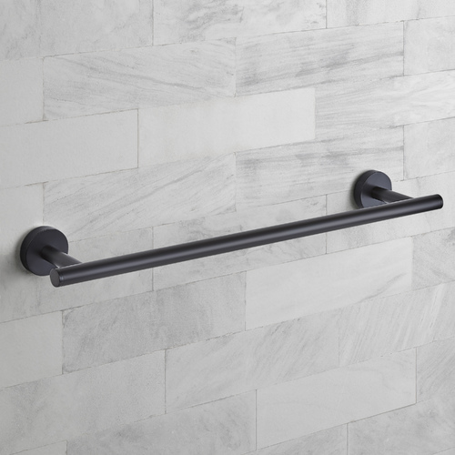 Seattle Hardware Co Seattle Hardware Co Prelude Matte Black Towel Bar 18-Inch Center to Center BHW1-18TB-BK