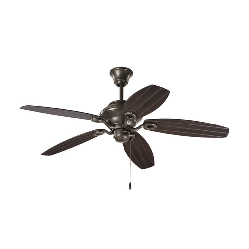 Progress Lighting Progress Ceiling Fan Without Light in Antique Bronze Finish P2533-20
