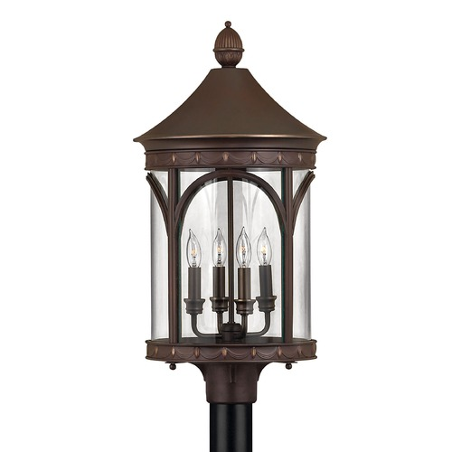 Hinkley Lighting Post Light with Clear Glass in Copper Bronze Finish 2311CB