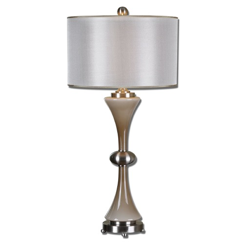 Uttermost Lighting Uttermost Amerson Taupe Gray Glass Table Lamp 26777-1