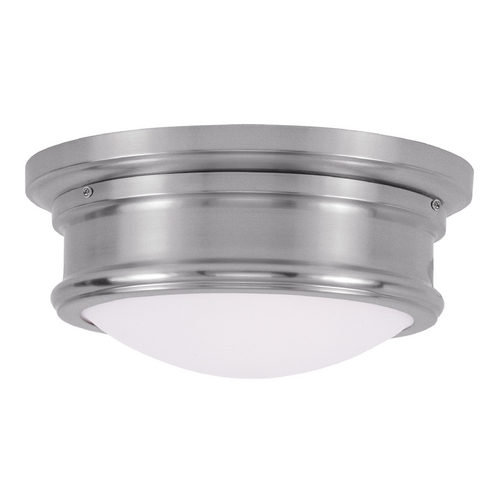 Livex Lighting Livex Lighting Astor Brushed Nickel Flushmount Light 7341-91