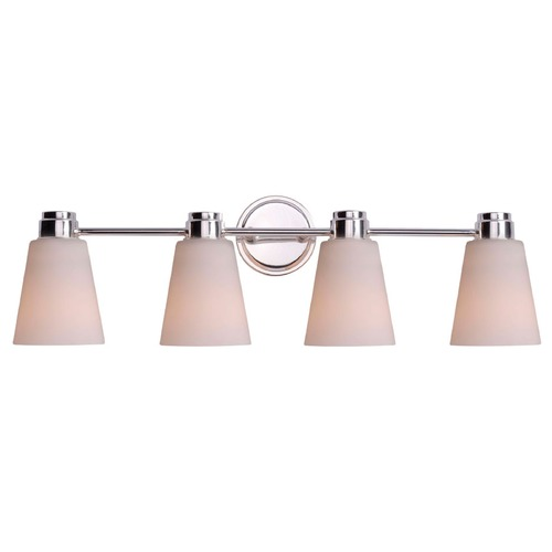 Kenroy Home Lighting Kenroy Home Lighting Rockdale Polished Nickel Bathroom Light 93474PN