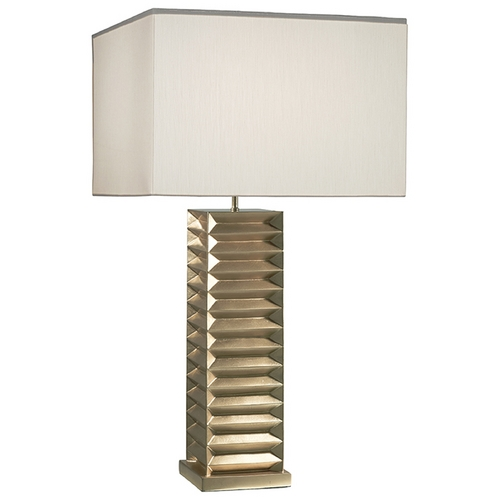 Fine Art Lamps Fine Art Lamps Recollections Gold Leaf Table Lamp with Rectangle Shade 847810-2ST