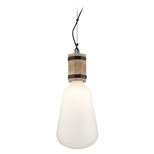 Troy Lighting Troy Lighting Fulton Rusty Iron with Salvaged Wood Pendant Light with Bowl / Dome Shade F4553