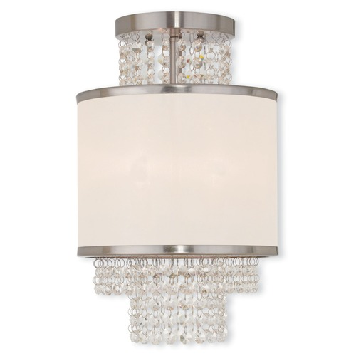 Livex Lighting Livex Lighting Prescott Brushed Nickel Semi-Flushmount Light 50792-91