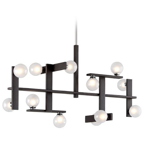 Troy Lighting Mid-Century Modern Island Light Bronze / Chrome Network by Troy Lighting F6075