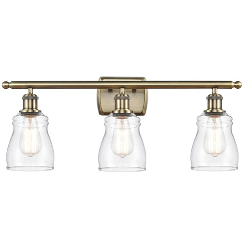 Innovations Lighting Innovations Lighting Ellery Antique Brass Bathroom Light 516-3W-AB-G392