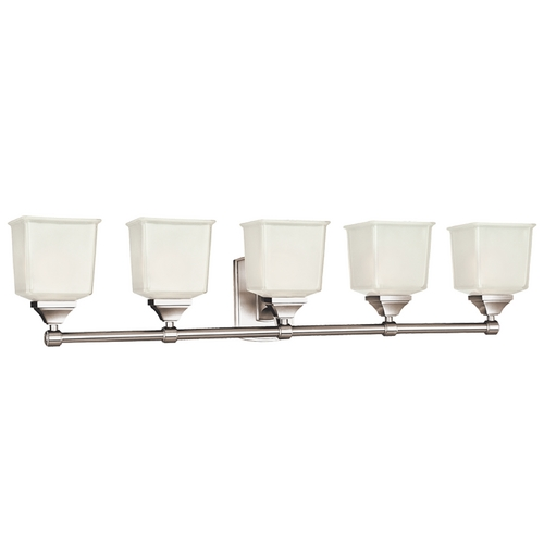 Hudson Valley Lighting Modern Bathroom Light with White Glass in Polished Chrome Finish 2245-PC