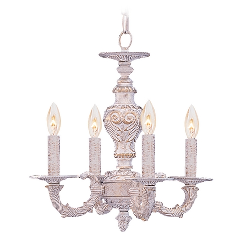 Crystorama Lighting Mini-Chandelier in Antique White Finish 5124-AW