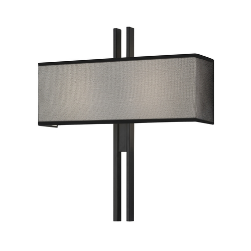 Sonneman Lighting Modern Sconce Wall Light with Black Shades in Satin Black Finish 4522.25
