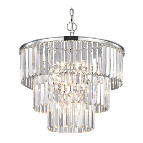 Ashford Classics Lighting Three Tiered Crystal Chandelier Chrome 1824-26