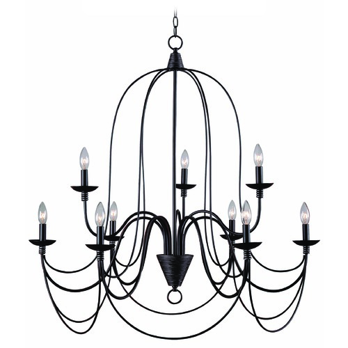 Kenroy Home Lighting Kenroy Home Lighting Pannier Oil Rubbed Bronze with Silver Highlights Chandelier 93069ORB