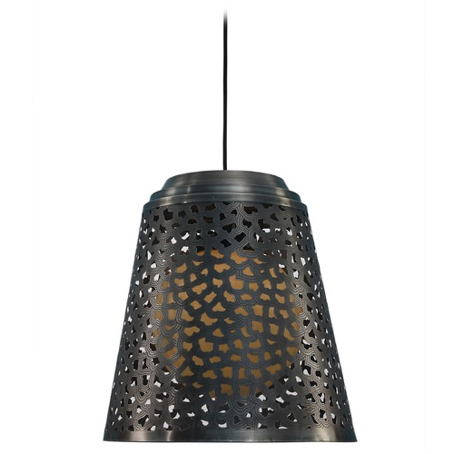 Kenroy Home Lighting Kenroy Home Lighting Tunis Dark Gray Zinc Pendant Light with Empire Shade 93442DGZ