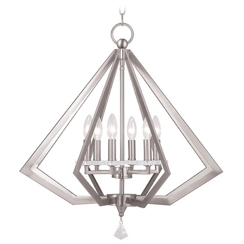 Livex Lighting Livex Lighting Diamond Brushed Nickel Chandelier 50666-91