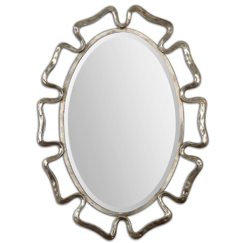 Uttermost Lighting Uttermost Beccaria Silver Oval Mirror 12874