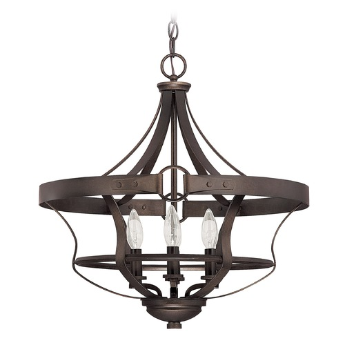 Capital Lighting Capital Lighting Chastain Tobacco Pendant Light 4208TB