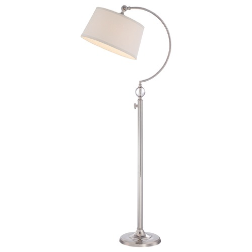 Quoizel Lighting Quoizel Polished Nickel Floor Lamp with Empire Shade Q1893FPK