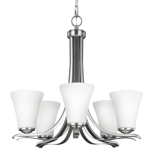 Feiss Lighting Feiss Lighting Summerdale Satin Nickel Chandelier F2979/5SN