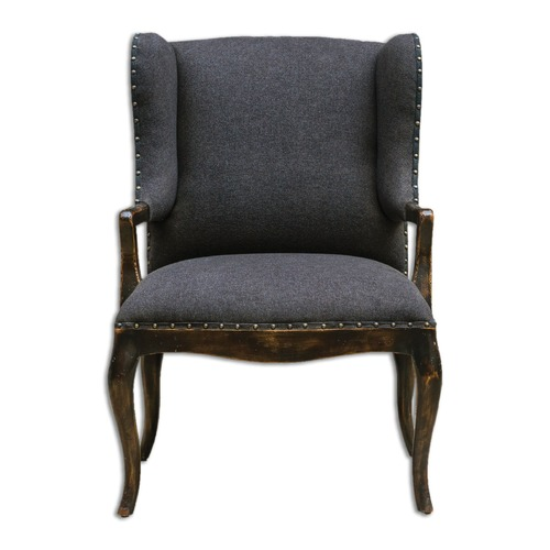 Uttermost Lighting Uttermost Chione Black Armchair 23631