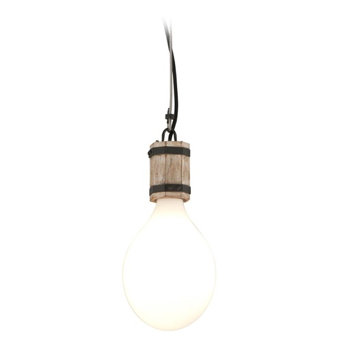 Troy Lighting Troy Lighting Fulton Rusty Iron with Salvaged Wood Mini-Pendant Light with Oval Shade F4554
