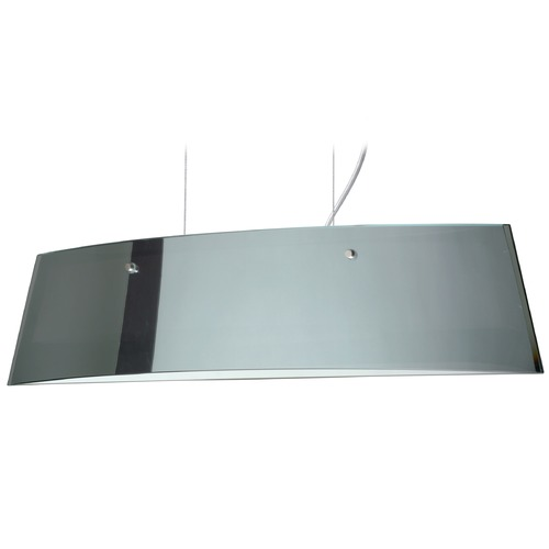 Besa Lighting Besa Lighting Silhouette Polished Nickel LED Island Light with Rectangle Shade LS3-4454MR-LED-PN