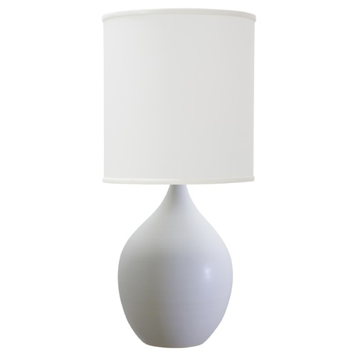 House of Troy Lighting House Of Troy Scatchard White Matte Table Lamp with Cylindrical Shade GS301-WM