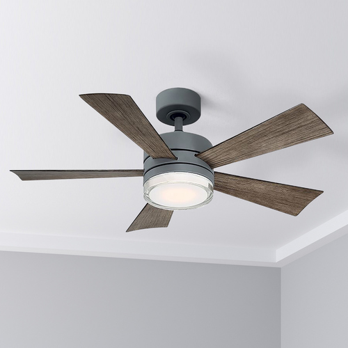Modern Forms by WAC Lighting Modern Forms Graphite 42-Inch LED Smart Ceiling Fan 2700K 1600LM FR-W1801-42L27GHWG