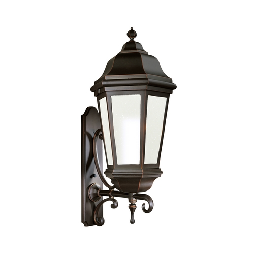 Troy Lighting Outdoor Wall Light with Clear Glass in Antique Bronze Finish BFCD6836ABZ