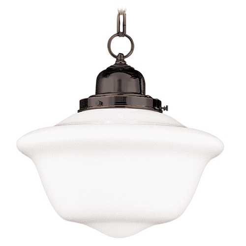 Hudson Valley Lighting Pendant Light with White Glass in Old Bronze Finish 1612-OB