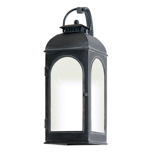 Troy Lighting Outdoor Wall Light with Clear Glass in Antique Iron Finish BF3281