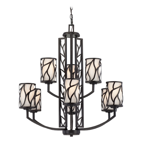 Designers Fountain Lighting Chandelier with White Glass in Artisan Finish 83789-ART