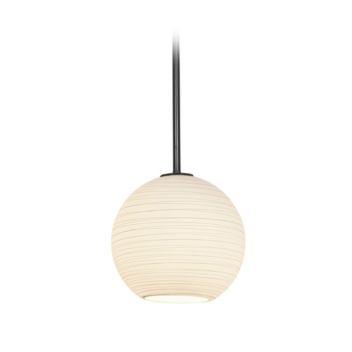 Access Lighting Modern Mini-Pendant Light with White Glass 28087-2R-ORB/WHTLN