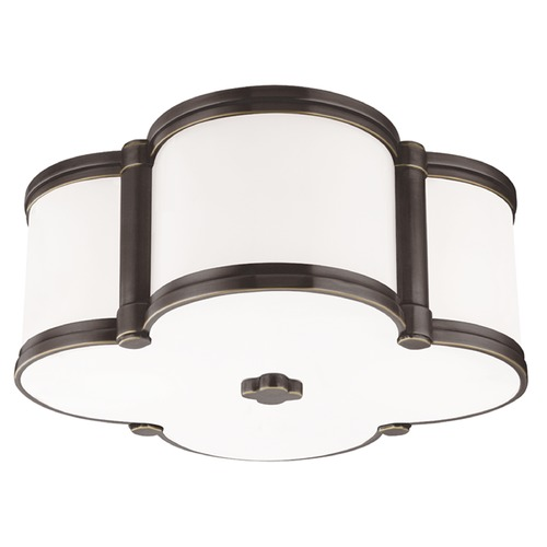 Hudson Valley Lighting Chandler 2 Light Flushmount Light Clover Shaped Glass - Old Bronze 1212-OB