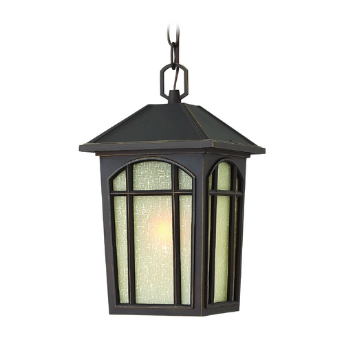 Hinkley Lighting Outdoor Hanging Light with White Glass in Oil Rubbed Bronze Finish 1982OZ
