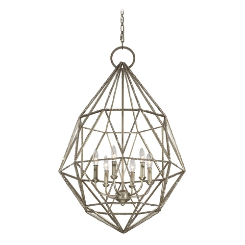 Feiss Lighting Feiss Lighting Marquise Burnished Silver Pendant Light F2942/6BUS