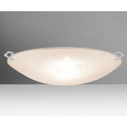 Besa Lighting Besa Lighting Sonya Satin Nickel Flushmount Light 8419GL-SN