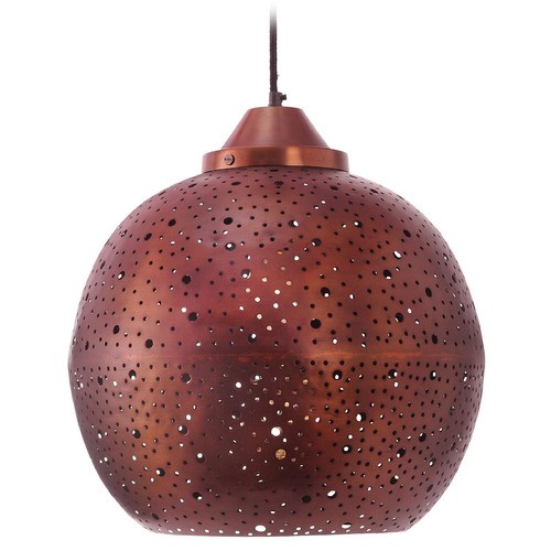 Kenroy Home Lighting Kenroy Home Lighting Matisse Copper Pendant Light with Globe Shade 93443COP