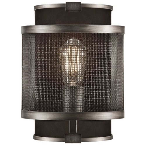 Fine Art Lamps Fine Art Lamps Relativity Antique Hand-Rubbed Steel Sconce 800550ST