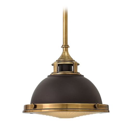 Hinkley Hinkley Amelia Buckeye Bronze Mini-Pendant Light with Bowl / Dome Shade 3122KZ