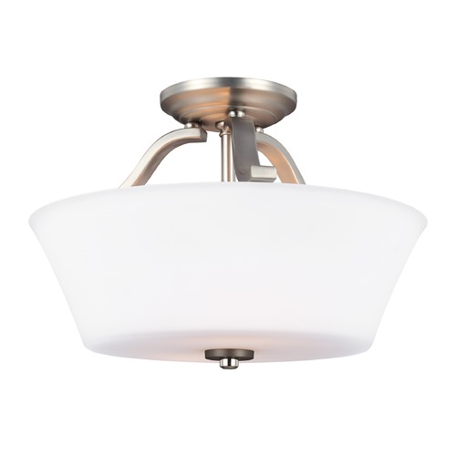 Feiss Lighting Feiss Lighting Hamlet Satin Nickel Semi-Flushmount Light SF325SN