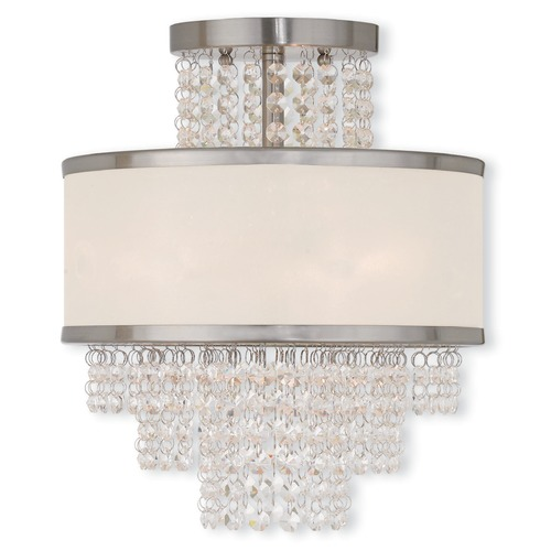 Livex Lighting Livex Lighting Prescott Brushed Nickel Semi-Flushmount Light 50793-91