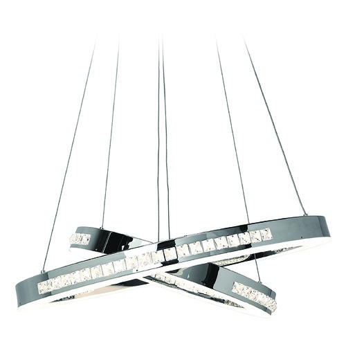 Access Lighting Access Lighting Affluence Chrome Pendant Light 62458LEDD-CH/CCL
